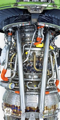 Aerospace and Engineering: Jet Engine-GE Turbine Engine, Gas Turbine, Motor Engine, Jet Engine, Mechanical Design, Mechanical Engineering, Aviation Engineering, Electrical Engineering, Aircraft Maintenance