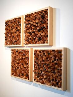 Wooden Wall Art, Diy Wall Art, Wood Wall, Wall Sculptures, Sculpture Art, Post Contemporary, Acoustic Design, Wood Pallet Art, Acoustic Panels