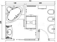 Bagni completi - progetti di bagni cad dwg (3)