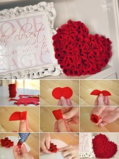 Time to Make This Felt Rose Heart