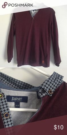 4a9eadb10fdcc BOYS maroon collared shirt. Baker By Ted ...