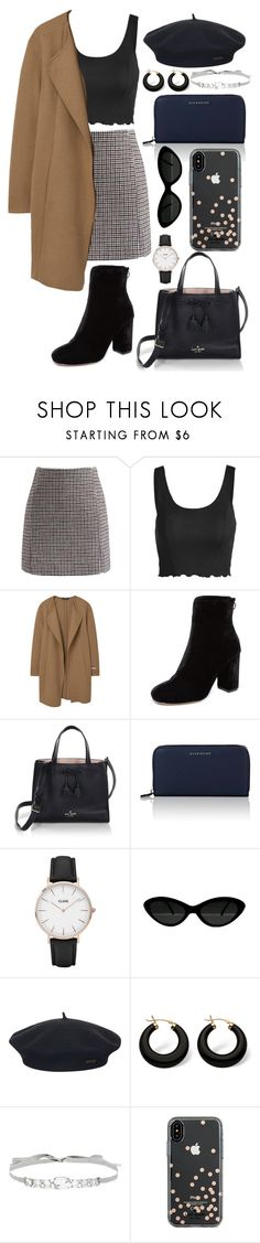 """""""Untitled #261"""" by kalde ❤ liked on Polyvore featuring Chicwish, MANGO, Joie, Kate Spade, Givenchy, CLUSE, Element, Palm Beach Jewelry and Jenny Packham"""