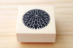 Rubber stamp  Japanese chrysanthemum  B type von karaku auf Etsy, ¥650
