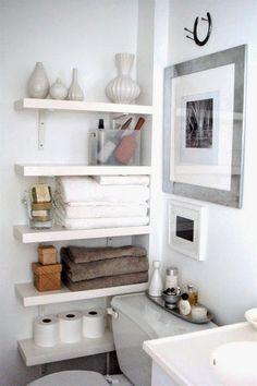 Cool small bathroom storage organization ideas (41)
