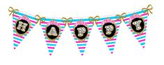 90th Birthday Party: Banner/Bunting.