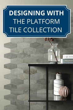 Get the perfect Industrial look with our Platform Tile Collection! This collection features porcelain tiles that are reminiscent of metallic plates. We love how this unique tile can transform a space!