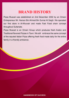 Pizza Muscat Brochure 1