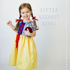 Princess Dress Sewing Pattern, Girls 12m-12