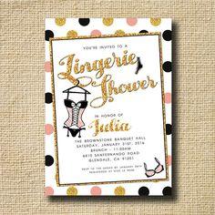 Lingerie Shower Invitation Lingerie Shower Invite by creativelime