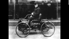 Ford was working on a new vehicle -- the Quadricycle. He finally completed a working version in 1896 and drove it through Detroit.