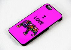 i Love Elephant iPhone 5 5S 5C 4S&4 Case Hard Plastic Case,iPhone Cover,Personalize Style, Christmas Gift.New Year Gift