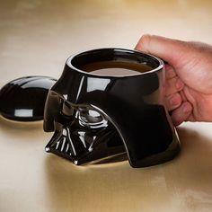 "Star Wars Darth Vader Helmet & Stormtrooper Helmet Design 3D Ceramic Mug Officially-licensed Star Wars merchandise Removable lid Capacity: 24 oz. Materials: Ceramic Dimensions: 4"" diameter(ish) x 4"" t"
