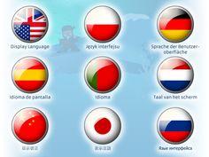 Professor Ninja Chinese / Display Languages: You can choose between 9 display languages: English, Chinese, Spanish, Portuguese, German, Dutch, Japanese, Russian and Polish.
