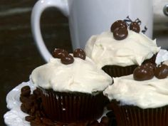 Chocolate Cupcakes with Coffee Cream Filling from FoodNetwork.com