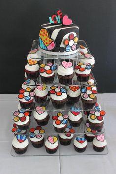 My bridal shower cake. Beautiful Cupcakes, Gorgeous Cakes, Amazing Cakes, Fondant Cakes, Cupcake Cakes, Patchwork Cake, Cake Board, Colorful Cakes, Cute Cakes
