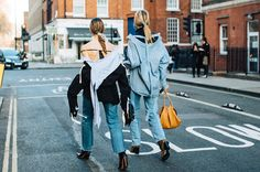 Spotted on the streets at Fashion Week, an ephemeral trend first seen at the Balenciaga Fall