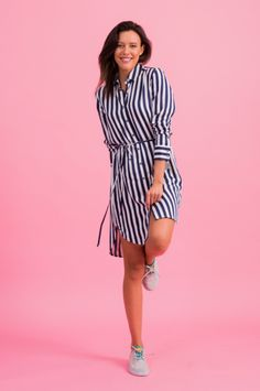 Sukienka Alaska Stripes - Colorshake - Sukienki koszulowe