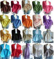 Amazon.com: Pashmina Scarf Shawl Wrap Throw Navy: Clothing