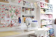She primarily sews in this room and has some amazing ideas for storing fabric. Description from craftstorageideas.com. I searched for this on bing.com/images