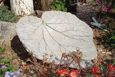 Hypertufa leaf - visit this website for information on hypertufa how-to.