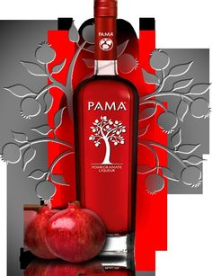 Pama liquor and pear absolute, splash of cranberry and a lime ... Perfect pomegranate pear martini for me!