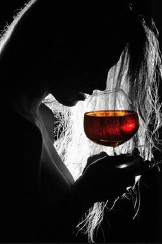 silhouette n red wine