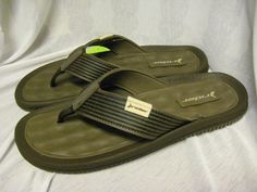 3cd563f589f5 Men`s rider sport sandals flip flops size 9 m new brown