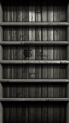 【人気123位】お洒落な棚のiPhone壁紙「Think different」 | iPhoneX,スマホ壁紙/待受画像ギャラリー