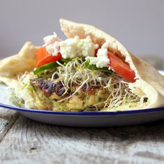 Vegetarian Roasted Garlic Chickpea Burger