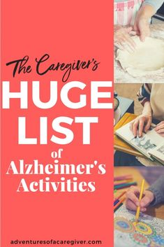 Over 75 caregiver recommended Alzheimer's activities.