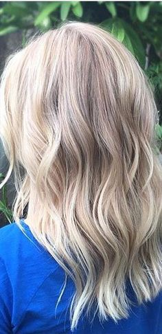 blonde highlights with cool tones