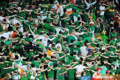 The Irish Huddle at Euro 2012