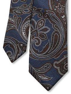 Paisley wool skinny tie | Banana Republic | $59.50
