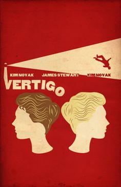 Vertigoby Frank Porcaro, minimal movie poster