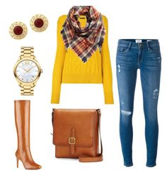 """""""Fall style"""" by sunshynemoh on Polyvore featuring Frame Denim, Isabel Marant, BP., Movado, Nine West and Frye"""