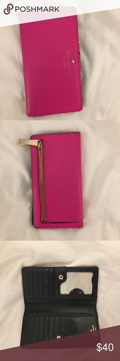 Hot Pink Kate Spade Wallet Great condition! kate spade Bags Wallets