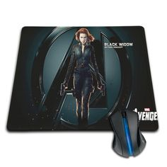 Black Widow mouse pad. Available in different sizes.