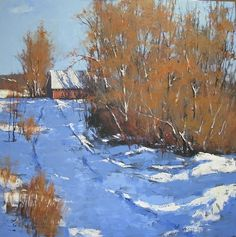 Winter Shadows : Romona Youngquist Oil ~ 48' x 48'