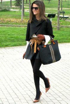 Shop this look on Kaleidoscope (cape, skirt, belt, pumps, purse)  http://kalei.do/WUOpnuQ52mYF1fJj