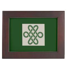 Celtic Knot Irish Memory Box