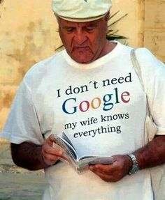 Who needs Google? #newlywedsurvival