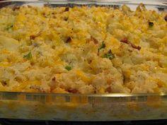 Emeril's Twice Baked Potato Casserole — A big time kid favorite!