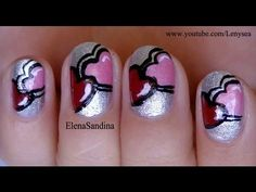 """You and Me"" Valentine's Day Nail Art Design"