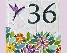 Número Residencial em Mosaico- 20x20