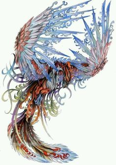 Totally thinking about this amazing phoenix for a back tat!! xo