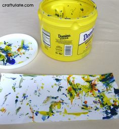 Painting in a Can - a mess free art activity for older babies and toddlers