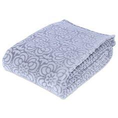 Berkshire Blanket Ornate Frosted Floral VelvetLoft Blanket