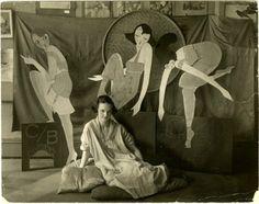 Jessie Tarbox Beals, Lin in her shop, 167 West 4th Street, ca. 1916-1920