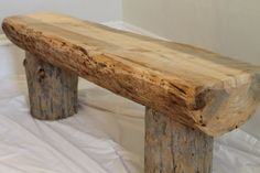 Natural Pine Mississippi Made Reclaimed Log by StructuresUnlimited, $250.00 use log base and 2x6 seat