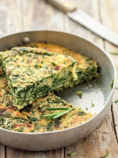 Baked chickpea omelette with leeks - Natural Cuisine Veg Recipes, Italian Recipes, Cooking Recipes, Healthy Recipes, Vegan Cookbook, Everyday Food, Vegan Dishes, International Recipes, Going Vegan